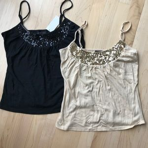 Sequined tank top set